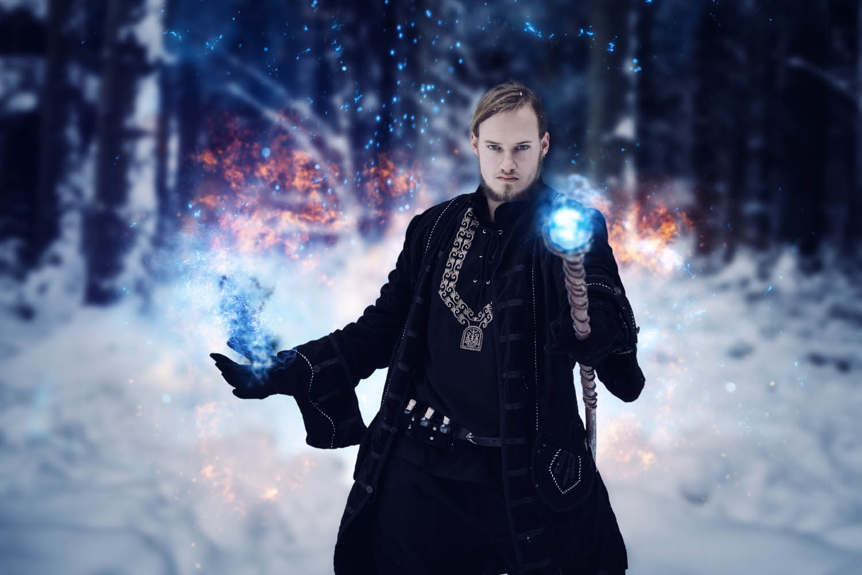 Magier Shooting Winter